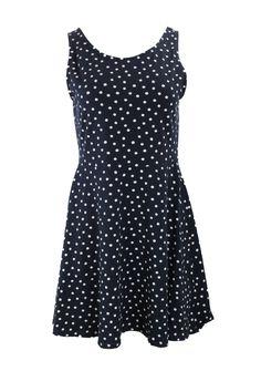 Kleid dunkelblau mit Punkten Gr. 44 Dresses, Fashion, Dark Teal, Darkness, Clothing, Curve Dresses, Vestidos, Moda, Fashion Styles