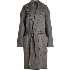 Alexander Wang Coat (11473520 PYG) ❤ liked on Polyvore featuring outerwear, coats, grey, knee length coat, gray wool coat, alexander wang, wool coats and knee length wool coat