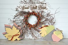 Fall Decor from The Happy Scraps | The Wood Connection Blog