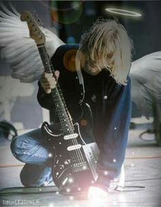 Kurt My Angel Nirvana Art, Billy Idol, Endless Love, Wish You Are Here, Metal Bands, Kurt Cobain, Grunge, The Past, Guitar