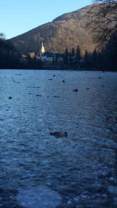 Lillafüredi Palotaszálló a jégről