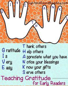 Graditude Worksheets for Kids:  Teaching gratitude to children