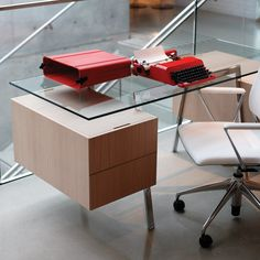 I would be happier doing Homework at this Bensen Glass Desk :))