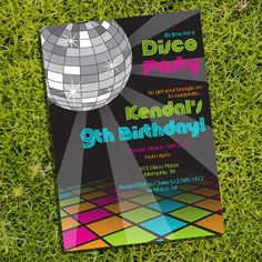 It's Disco Time...Disco Party Theme Invitation  Instantly by SunshineParties on Etsy, $5.00... So fun! #DiscoParty #Disco