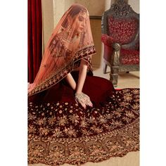 Buy Marvellous Maroon Colored Partywear Embroidered Pure Velvet Lehenga Choli at Rs. Get latest Lehengas for womens at Peachmode. Simple Lehenga Choli, Bridal Lehenga Choli, Indian Wedding Bride, Indian Bridal Wear, Bridal Mehndi, Wedding Wear, Stone Work Blouse, Bridal Lehenga Collection, Choli Dress