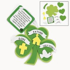 Trinity Lucky Shamrock Ornament Craft Kit - Vacation Bible School & Crafts for Kids