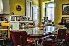 Americana - 1950 Kitchen - 1950s - Retro Kitchen Photograph  -