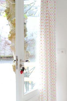Dotty curtains via Yvestown