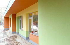 Bunte Fassadengestaltung durch die Kaminski & Brendel Malereibetrieb GmbH in Berlin (12107)   Maler.org