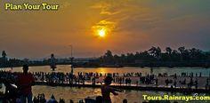 Tourist Attraction India: Har Ki Pauri Haridwar Evening view