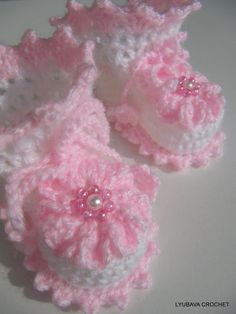 PDF Crochet Baby Girl Booties, Easy Tutorial Crochet Pattern Baby Shoes, Crochet Baby Booties Pattern, Lyubava Crochet Pattern number 14. $3.99, via Etsy.