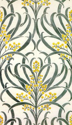 'Callum' wallpaper design by C F A Voysey, produced in 1896..jpg. '