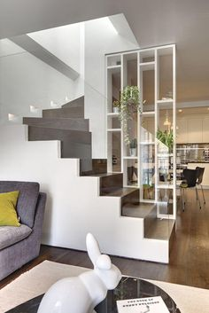 Modern Staircase Design Ideas - Staircases are so typical that you do not give them a doubt. Take a look at best 10 instances of modern staircase that are as magnificent as they are . Home Stairs Design, Interior Stairs, Home Interior, Interior Architecture, Interior Design, Stair Design, Railing Design, Interior Modern, Modern Stairs Design