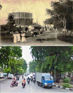 Gang Ketapang te Batavia, circa 1920, jl AM Sangaji, Jakarta, 2015