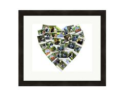 Personalized Custom Heart Photo Collage Home Wall Decor Picture - Made from your photos! by LuluBluePhoto on Etsy #customphotocollage