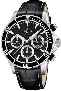 95aa7ebfe6c Perrelet Seacraft Chronograph Mens Watch Model  A1054.2 Sonhos