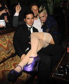 daphne guinness purple heels shoes