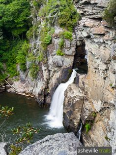 Catch views of Linville Falls from a towering overlook on the Plunge Basin Trail at Linville Gorge