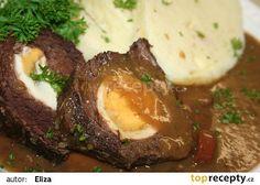 Štěpánská hovězí pečeně recept - TopRecepty.cz Slovak Recipes, Czech Recipes, Ethnic Recipes, I Foods, Stew, Mashed Potatoes, Food And Drink, Menu, Eggs