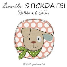 Gekritzelknopf-Stickdatei HUND - new ideas: embroidery files - Bird Quilt Blocks, Vogel Quilt, Baby Club, Freehand Machine Embroidery, Baby Posters, Busy Book, Embroidery Files, Painting For Kids, Baby Shop