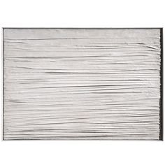 Piero Manzoni initiated his radical Achromes (literally translated as 'without colour' or 'neutral') series initially with gesso and then with kaolin and creased canvases in 1957 / 1958, marking the beginning of a varied and sustained investigation into aesthetic questions that would last until his death. He would drape kaolin-soaked fabric of his canvas, letting the drying and crystallizing process determine the final form of the work.  Despite their minimal and humble nature, the Achromes…