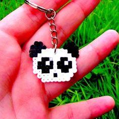 Sprite / straps / dragonne / plug / magnet /porte-clés • panda réalisé en perles hama • hama beads • pixel/art