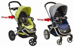 Kolcraft recalls several models of strollers because of injury hazards related to the handelbar hinge.