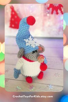 Crochet Santa Mouse pattern, Amigurumi Сhristmas gnome
