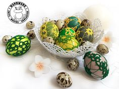 Handmade Home, Etsy Handmade, Easter Toys, Easter Table Decorations, Lace Decor, Tatting Lace, Handmade Ornaments, Easter Baskets, Shades Of Green