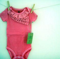 Items similar to Pink Ruffle onesie. Nb up to 24 months. on Etsy Cute Kids, Cute Babies, Baby Kids, Baby Baby, Fashion Kids, Fashion Shoes, Onesies, Onesie Diy, Baby Onesie