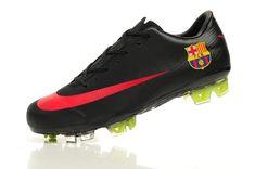 Chaussures Foot Barcelone Nike Mercurial Vapor Superfly III FG noir rouge