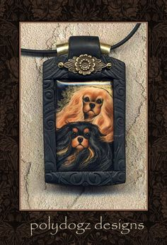 Cavalier King Charles Spaniel necklace.