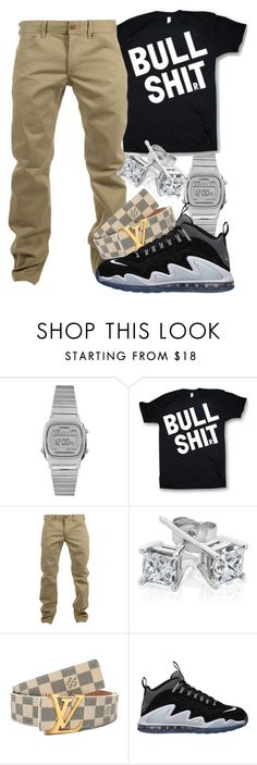 """""""BullSh*t"""" by dajvuuloaf ❤ liked on Polyvore featuring Casio, Woolrich, Reeds Jewelers, Louis Vuitton and NIKE"""