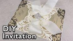 Elegant Damask Lasercut Invitation | DIY Wedding Invitations | Eternal S...