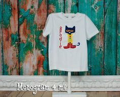 Pete the Cat inspired Shirt Back to school by monogram4me on Etsy