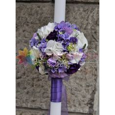 lumanari de nunta mov cu alb Hanukkah, Wedding Flowers, Wreaths, Home Decor, Decoration Home, Door Wreaths, Wedding Bouquets, Deco Mesh Wreaths, Interior Design