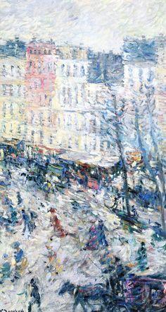 Nicolas Tarkhoff (Russian 1871-1930) [Impressionism] Boulevard Saint-Denis in Paris, 1901.