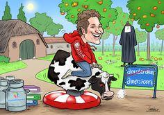Rodeo-koe - De Karikaturist