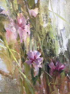 """Mallow by Simon Addyman Oil ~ 16"""" x 12"""""""