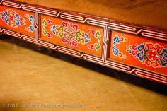 Terelj_Lodge_Tourist_Ger_Camp_Gorkhi-Terelj_National_Park_Mongolia_Painted_Bed
