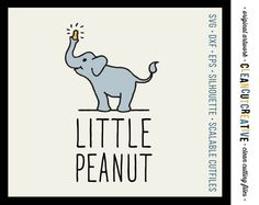 Little Peanut - SVG Studio3 DXF EPS png - cute baby cutfile design - Commercial Use - for Cricut and Silhouette Cameo - clean cutting files