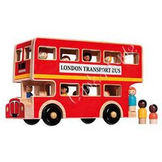London Toy Bus - Wooden Fair Trade Toy