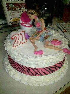 Beth's 21st Bday cake! Made by my Aunt Sandy!
