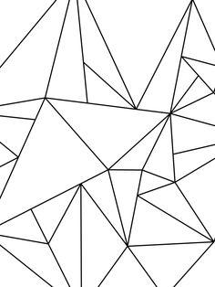 Geometric Art Black and White Minimalist Art par MelindaWoodDesigns