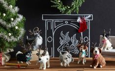 Roost Holiday Hound Ornaments - Set Of 14
