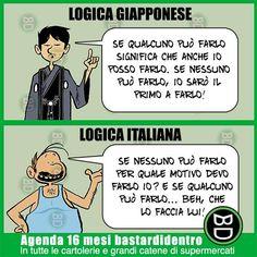 Logica giapponese VS italiana | immagini e vignette divertenti |
