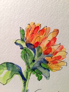 Sunflower Watercolor Card by gardenblooms
