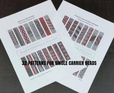 INSTANT PDF DOWNLOAD With the increased popularity of Carrier Beads, there is also a desire for more weaving patterns/designs for covering these fun, new beads. So, I put my creative cap on and got busy doing just that. I am happy to make available to you 40 NEW peyote strip beading