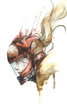 Samus Aran Artwork by Alonzo Canto