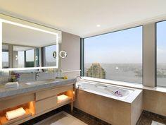 wandgestaltung in erd- und naturfarben-wandbefestigter, Badezimmer